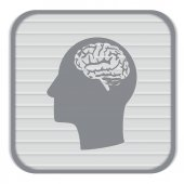 Head with   Mind and science icon — Stock Vector