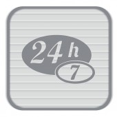 24 hours, 7  days open icon — Stock Vector