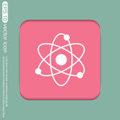 Icon of physics or chemistry — Vector de stock