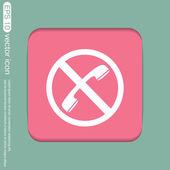Forbidden to use phone icon — Stock Vector