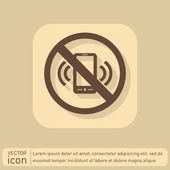 Forbidden to use phone icon — Stock Vector