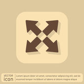 Web move arrows icon — Stock Vector