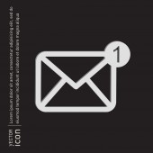 E-mail symbol, envelope icon — Vector de stock