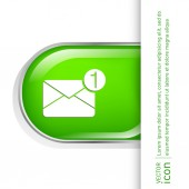 Postal envelop. email icon — Stock Vector