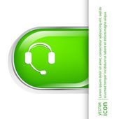 Customer support, headphone icon — Stock Vector