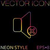 Loudspeaker, Volume off icon — Stock Vector