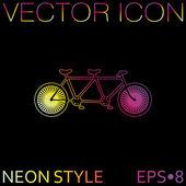 Icono de bicicleta retro — Vector de stock