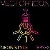 Lightbulb, ideas icon — Stock Vector