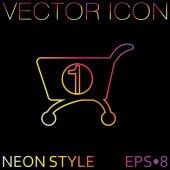 Cart, shopping sign — Stock Vector