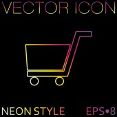 Online store, shopping icon — Stock Vector