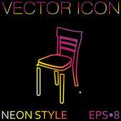 Fotel ikona, znak meble — Wektor stockowy
