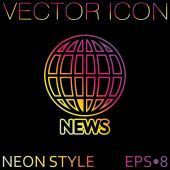 Globe, symbol of news. — Stock Vector