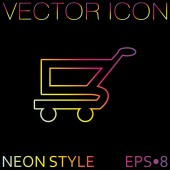 Online store, shopping icon — Vettoriale Stock