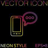 Smartphone con habla de diálogo. — Vector de stock