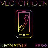 Smartphone  telephone icon — Vector de stock