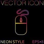 Icono de ratón de ordenador — Vector de stock