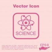 Atom, molekula, věda ikony — Stock vektor