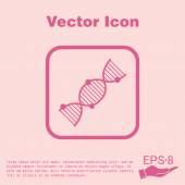 Šroubovice Dna. Lékařský výzkum ikona — Stock vektor