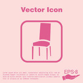 Chair, furniture icon — Stockvektor
