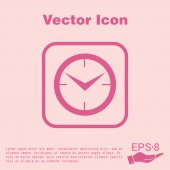 Clock, Icon watch. symbol time — Stock Vector