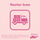 Truck. Logistic icon. — Stock Vector