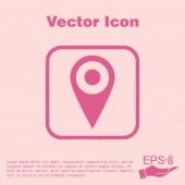 Pin location on the map — Stock Vector
