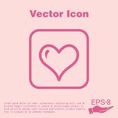 Heart, love symbol — Wektor stockowy