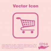 Cart, online shopping icon — Stock Vector