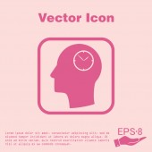 Icon head think silhouette — Stock Vector
