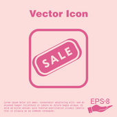 Sale, shopping label icon — Stock Vector