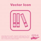 Office folders, documents icon — Stock Vector