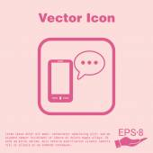 Smartphone peaking dialogue icon — Stock Vector