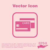 Credit card icon — Stock Vector