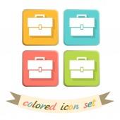 Briefcase symbol icon — Stock Vector