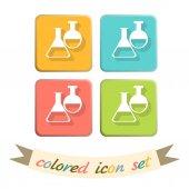 Symbol icon of medicine or chemistry — Stock Vector