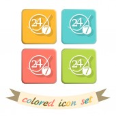 Character 24 7 sign — Stock Vector