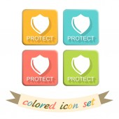 Shield, a symbol of protection — Stock Vector