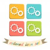 Symbol settings. cogwheel — Stock Vector