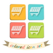Cart, online shopping icons — Stock Vector