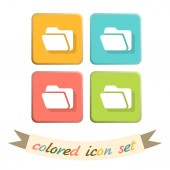 Folder for documents icons. — Stock Vector