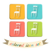 Chair icon. symbol furniture — Stock Vector