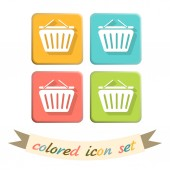 Online store, shopping icons — Stock Vector
