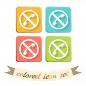Forbidden to use phone icons — Stock Vector