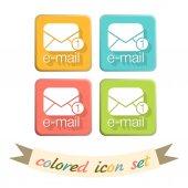 Envelope, email icon — Vetor de Stock