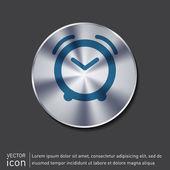 Alarm icon . clock sign — Stock Vector