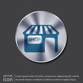 Shop building. symbol icon store — Stock Vector