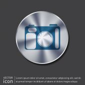 Photo camera icon — Stock Vector