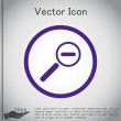 Постер, плакат: Magnifier reduction icon