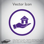 Hand holding House icon — Stock Vector