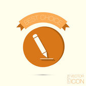 Pencil writing on paper — Stock Vector